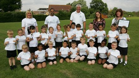 Nelmes Primary School, in Hornchurch, held a sports day for National Schools' Sports Week.