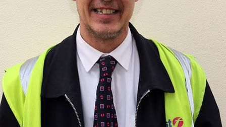 Tom McKerr in his bus driver uniform. Tom was in a BBC documentary about bus drivers.