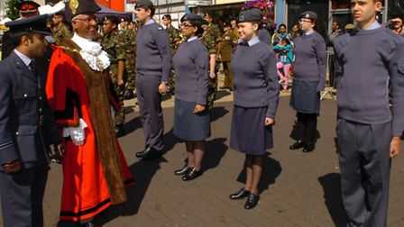 Cadets, soldiers and veterans formed the parade contingent and gathered outside Redbridge Town Hall
