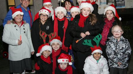 December's Christmas lights switch-on in High Street, Barkingside included children from the Kenneth