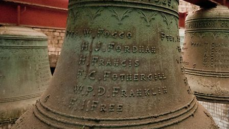 The Memorial bells preserve the names of 169 service men who died in the Great War