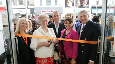 Saint Francis Hospice's new shop opens in Ilford Redbridge Mayor Cllr Felicity Banks and Ilford No