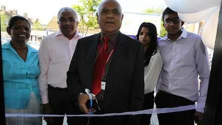 Education centre opening (from left to right) Lucia Anandarajan ,Anthony Anandarajan, Councillor