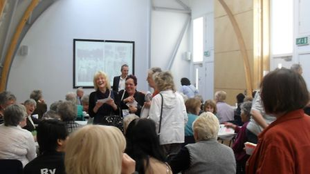 The launch of the first Sugar Girls exhibition at The Hub in Canning Town.