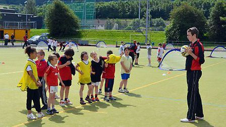 Football coaching session