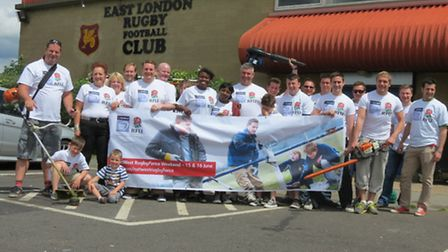 East London Rugby Club spruced up their clubhouse with the help of residents and family