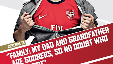 Jacob's father and grandfather both support the north London team