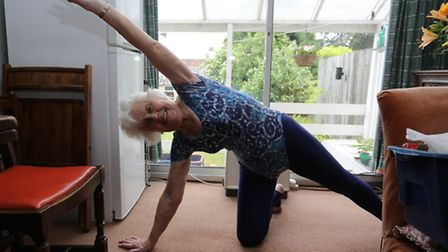 Joyce Nicholls 86 has been given a Bristish Empire Medal for her services to fitness over the years.