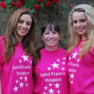 From left: Sarah Hegewald and her mum Bonnie and sister Abigail are set to take part in the Saint Fr