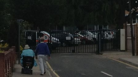 Police were called to Rise Park after disputes between parents after school.