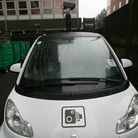 One of Redbridge's Smart cars, which patrols the roads to enforce parking rules