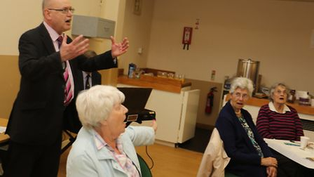 Afternoon tea and sing-song for Golden Years group with performer Nick Spokes