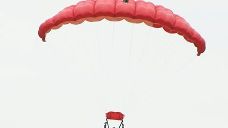 Lee Scott did the tandem skydive in aid of Saint Francis Hospice.