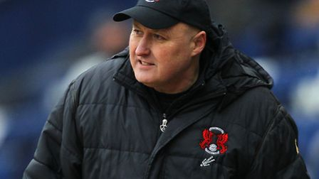 Leyton Orient's manager Russell Slade during the game against Preston North End. Picture: Barrington