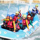 Urswhick School from Hackney in last year's white water rafting competition at the Lee Valley White