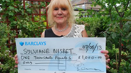 Sylviane Nisbet is the latest winner of the St Francis Hospice lottery