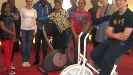 Ten young people and four leaders from the church spent 24 hours cycling to make sure they could go