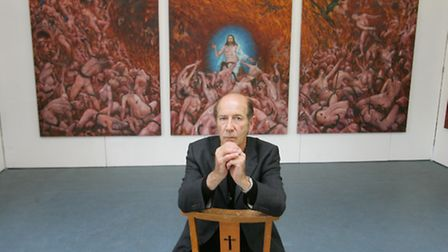 Terry Ffyffe with some of his artwork
