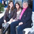 Colin Evans with his daughters Emma and Melodie.