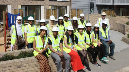 London Legacy Development Corporation's Legacy Youth Panel members finding out more about plans for