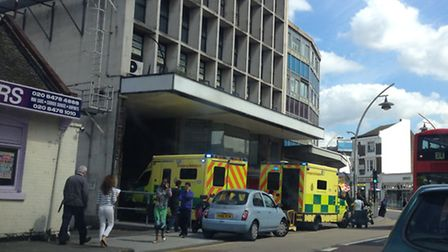 Ambulances were called to Ilford Hill, Ilford at about 11am this morning