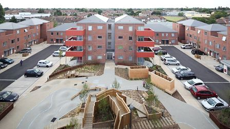 View of the new developement at Grove Farm.