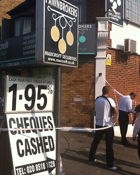 Police were called at 2.45pm on Friday to reports of an armed robbery at Maxcroft Securities Ltd