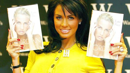 Katie Price pictured at a book signing in 2008. Picture PA/Owen Humphreys