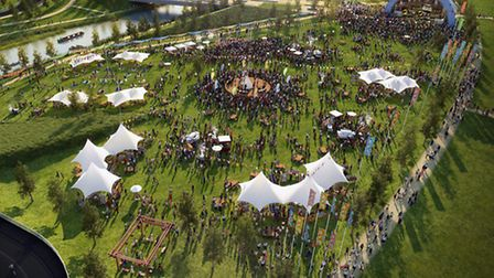 An artist's impression of what the Open East Festival will look like