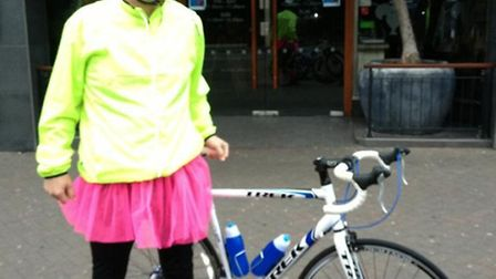 Bill Slack, Lauren's old boss at Sheffield Insulations, raised more than £500 with a sponsored bike