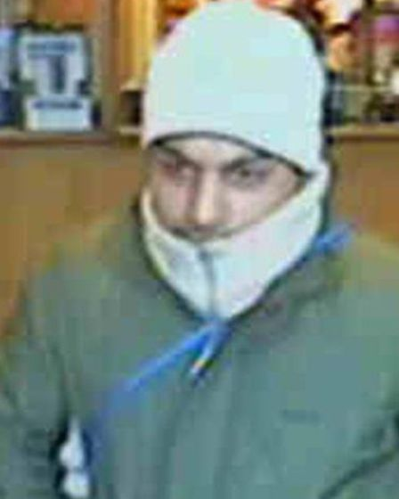 Police would like to speak to this man in connection with two robberies in Plaistow. Anyone with i