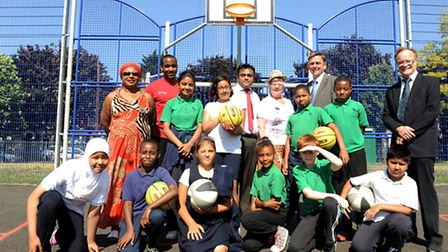 Newham Mayor Robin Wales was joined by councillors and children from Portway Primary School at the o