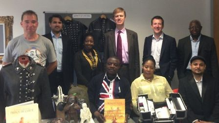 East Ham MP Stephen Timms with A4e CEO Andrew Dutton) and customers and staff from the Newham A4e of