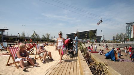 Royal Victoria Beach, at Royal Victoria Docks, is London's biggest beach in Newham