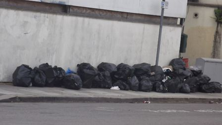 Bags of rubbish are regularly dumped in Chester Road, Seven Kings