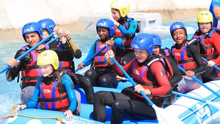 Rapid rapids: Students from Caterham High School white water rafting
