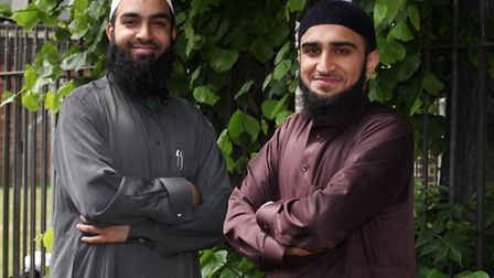Imams Zubarr Patel,left, and Khalil Laher