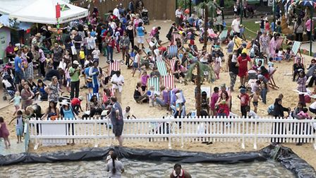 Like last year, there will be a man made beach and sea created in the heart of Newham at Central Par