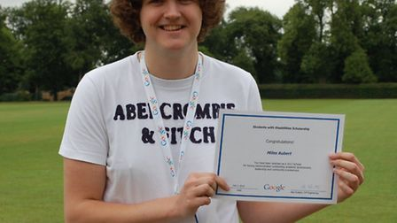 Former Brentwood student Miles Aubert has won a scholarship with Google.