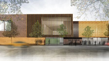 A computer generated image of the new Atherton Leisure Centre.