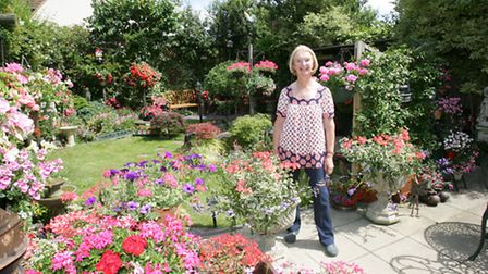 Maureen Keating with her lovely garden which she will open to the public for charity