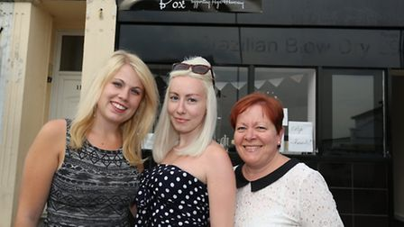 Becky Spicer is a manager of the Hope for Havering charity shop, but it is a real family effort beca