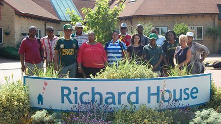 Volunteers from the South African High Commission at Richard House Children's Hospice