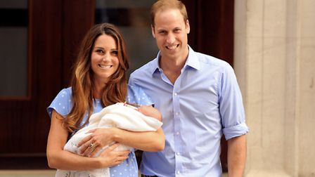 The Duke and Duchess of Cambridge leave the Lindo Wing of St Mary's Hospital in London, with their n