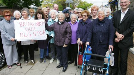 Pensioners won their demand for the bus stop to be reinstated, but that has upset others