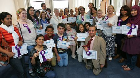 The award winners were presented with their prizes by the Mayor Cllr Felicity Banks