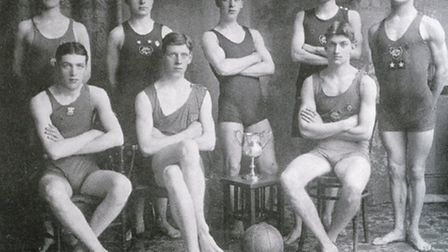 Members of the Romford Town Swimming Club and its water polo team in the 1900s. Credit: Romford Heri