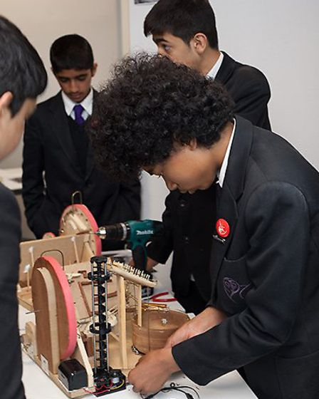 Pupils from Stratford School Academy pictured at The Big Bang London 2013 at Westminster Kingsway Co