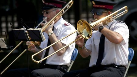 The Salvation Army band playing at the Area Five Our Community Festival. Photo: James Burns