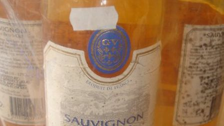 Four bottles of counterfeit bottles of Sauvignon Blanc wine seized from a Stratford off-licence.